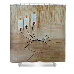 Shower Curtain featuring the painting Illumination by Sonali Gangane