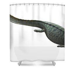 Illustration Of A Prehistoric Era Shower Curtain by Sergey Krasovskiy