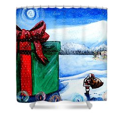 I'm Going To Need A Bigger Sleigh Shower Curtain by Shana Rowe Jackson