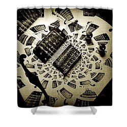 Imaginary Guitar Shower Curtain by Chris Berry
