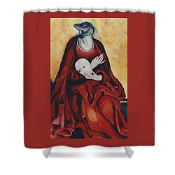 Shower Curtain featuring the painting Imitation Of Art by Irena Mohr