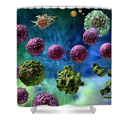 Immune Response Cytotoxic 1 Shower Curtain