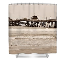 Shower Curtain featuring the photograph Imperial Beach by Rima Biswas