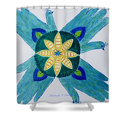 Shower Curtain featuring the painting Impression by Sonali Gangane