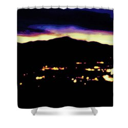 Impressionistic Pikes Peak Shower Curtain by Clarice  Lakota