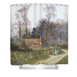 In A Witley Lane Shower Curtain by Helen Allingham