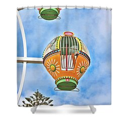 In Descent Shower Curtain