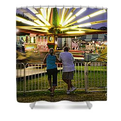 In Love At The Fair Shower Curtain by Paul Ward