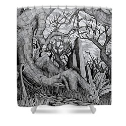 in my garden II Shower Curtain by Mariusz Zawadzki