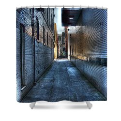 In The Alley Shower Curtain by Dan Stone