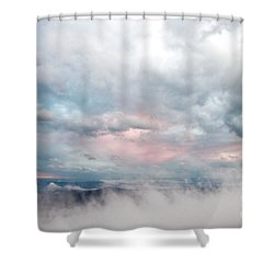Shower Curtain featuring the photograph In The Clouds by Jeannette Hunt