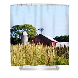 In The Farmers Field Shower Curtain by Bill Cannon