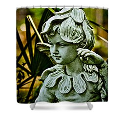In The Garden Shower Curtain by Christopher Holmes