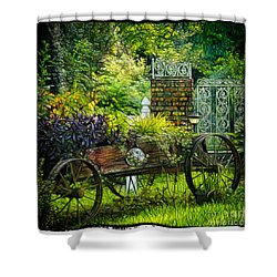 In The Garden Shower Curtain by Judi Bagwell