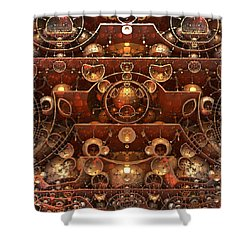 In The Grand Scheme Of Things Shower Curtain by Lyle Hatch