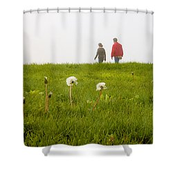 Shower Curtain featuring the photograph In The Mist by Milena Ilieva