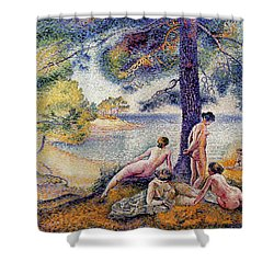 In The Shade Shower Curtain by Henri-Edmond Cross