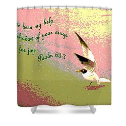 In The Shadow Of Your Wings Shower Curtain