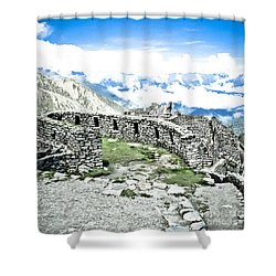 Inca Observatory Ruins Shower Curtain by Darcy Michaelchuk