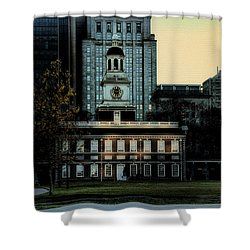 Independence Hall - The Cradle Of Liberty Shower Curtain by Bill Cannon