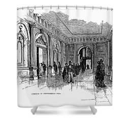 Independence Hall, C1876 Shower Curtain by Granger