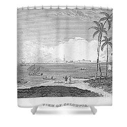 India: Calcutta, C1830 Shower Curtain by Granger