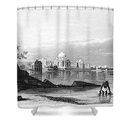India: Taj Mahal, C1860 Shower Curtain by Granger