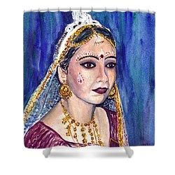 Indian Bride  Shower Curtain by Clara Sue Beym
