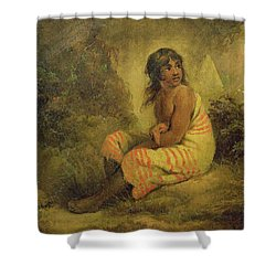 Indian Girl Shower Curtain by George Morland