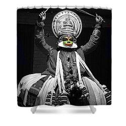 Indian Kathakali Dance Of Kerela 2 Shower Curtain by Sumit Mehndiratta