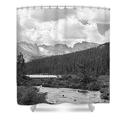 Indian Peaks Summer Day Bw Shower Curtain by James BO  Insogna