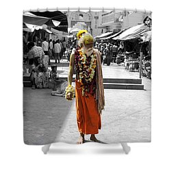 Indian Sadhu At A Religious Spot In India Shower Curtain by Sumit Mehndiratta