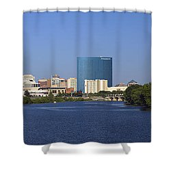 Indianapolis - D007990 Shower Curtain by Daniel Dempster