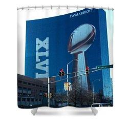Indianapolis Marriott Trubute To Super Bowl 46 Shower Curtain