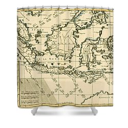 Indonesia And The Philippines Shower Curtain by Guillaume Raynal