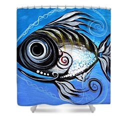 Industrial Goddess Shower Curtain by J Vincent Scarpace