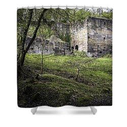 Industrial Ruin Shower Curtain by Amanda Elwell