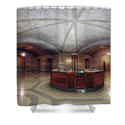 Shower Curtain featuring the photograph Info Desk by Art Whitton