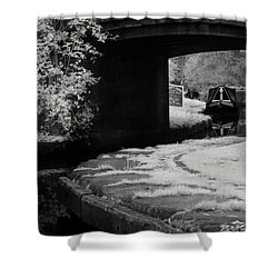 Shower Curtain featuring the photograph Infrared At Llangollen Canal by Beverly Cash