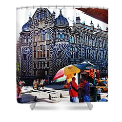 Inglesia Dulce Shower Curtain by Skip Hunt