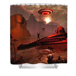 Inhabitants Of The Fabled City Shower Curtain by Mark Stevenson