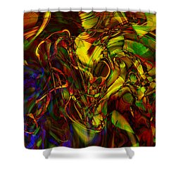 Injections Shower Curtain by Linda Sannuti