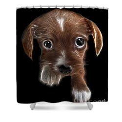 Innocent Loving Eyes	 Shower Curtain by Peter Piatt