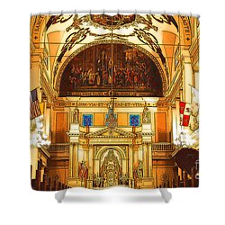Inside St Louis Cathedral Jackson Square French Quarter New Orleans Digital Art Shower Curtain by Shawn O'Brien