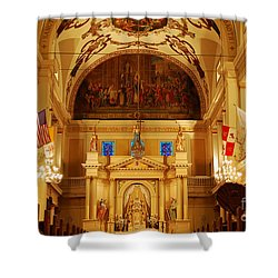 Inside St Louis Cathedral Jackson Square French Quarter New Orleans Shower Curtain by Shawn O'Brien