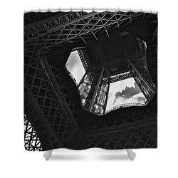 Shower Curtain featuring the photograph Inside The Eiffel Tower by Eric Tressler