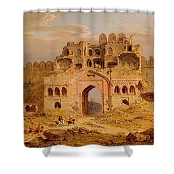 Inside The Main Entrance Of The Purana Qila - Delhi Shower Curtain by Robert Smith