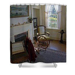 Inside Yaquina Bay Lighthouse Shower Curtain by Mick Anderson
