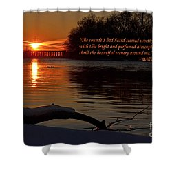 Inspirational Sunset With Quote Shower Curtain by Sue Stefanowicz