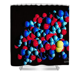 Insulin Molecule Shower Curtain by Science Source
